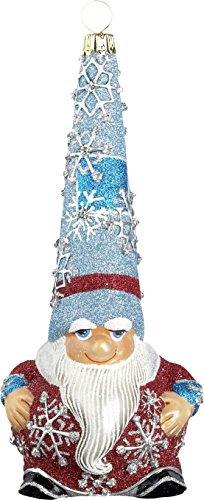 Glitterazzi Snow Gnome Wintery Santa Ornament by Joy to the World