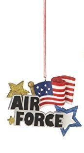 Air Force Ornament with American Flag