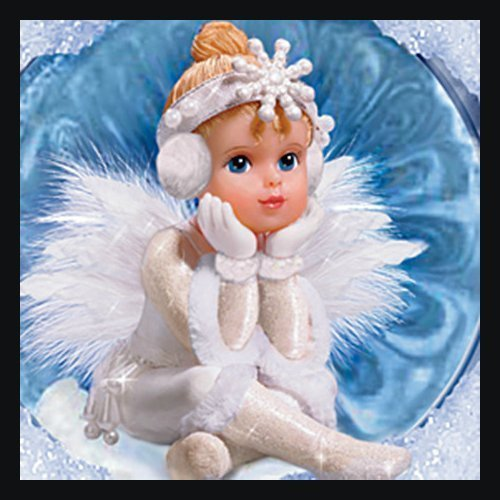 Snow Angel Holidays Ornaments Set One: Set Of Two by The Bradford Exchange