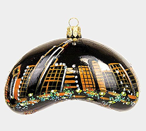 Late Night Chicago Bean Polish Mouth Blown Glass Christmas Ornament Decoration