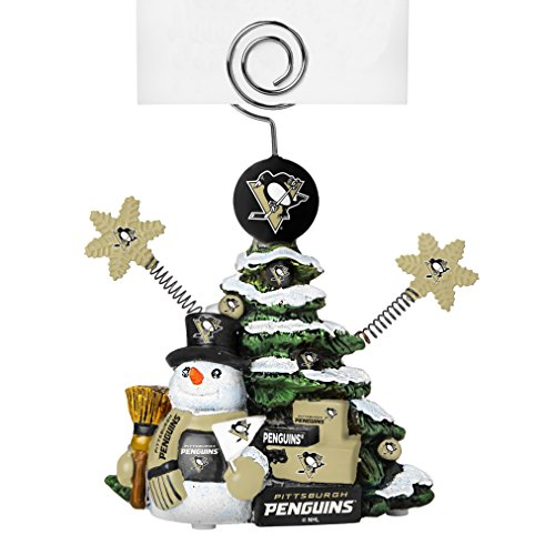 NHL Pittsburgh Penguins Tree Photo Holder, Green, 5″ Tall