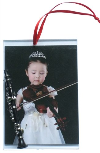 Picture Frame Ornament with Clarinet