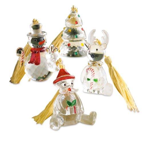 Lenox Christmas Cheer Crystalline, Christmas Ornaments, Set of 4