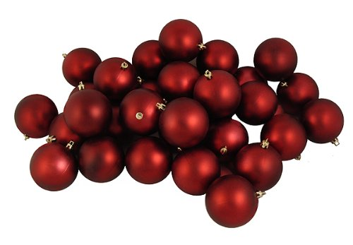 Vickerman Matte Ball, Includes 60 Per Box, 2.4-Inch, Burgundy