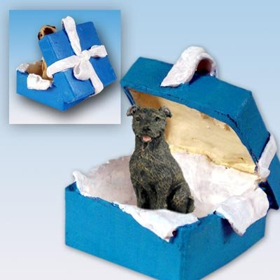Conversation Concepts Staffordshire Bull Terrier Brindle Gift Box Blue Ornament