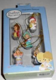 Precious Moments Ornaments Miniature (Set of 5)