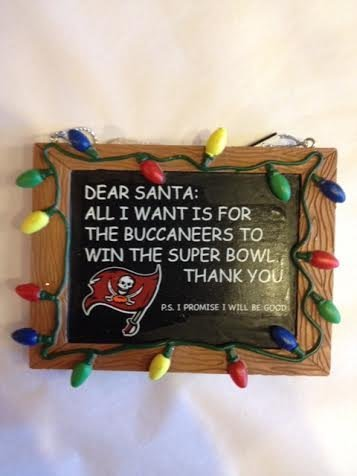 Tampa Bay Buccaneers Chalkboard Ornament