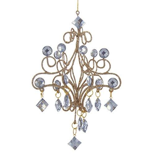 Kurt Adler 7.5″ Lite Gold Chandelier Ornament #D2532