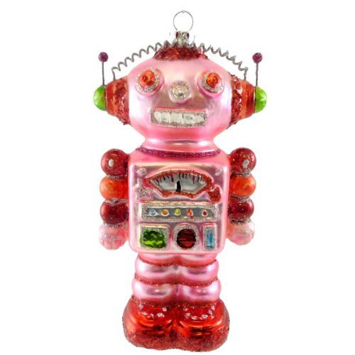 Holiday Ornament SPACE PEOPLE ORNAMENT TT0190 PINK Christmas Robot New by ONE HUNDRED 80 DEGREE