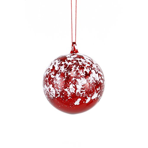 Sage & Co. XAO19460RW Glass Ball with Snow Ornament (6 Pack)