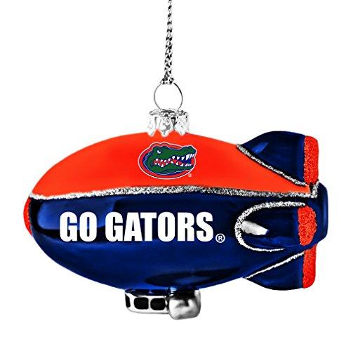 NCAA Florida Gators Glitter Blimp Ornament, Silver, 3″ x 2.25″