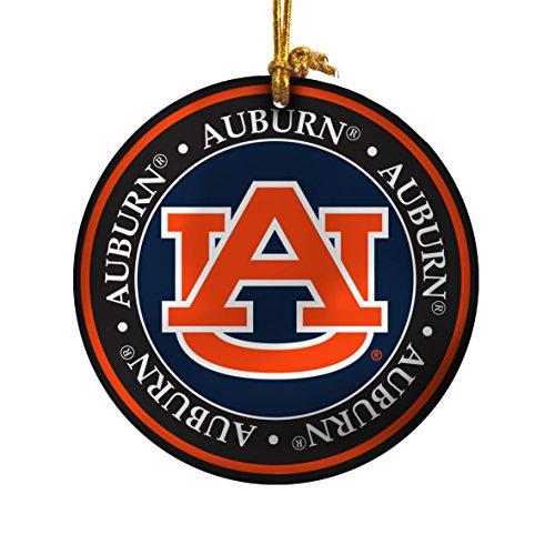 NCAA Auburn Tigers Ceramic Plate Ornament, Blue, 2.25″
