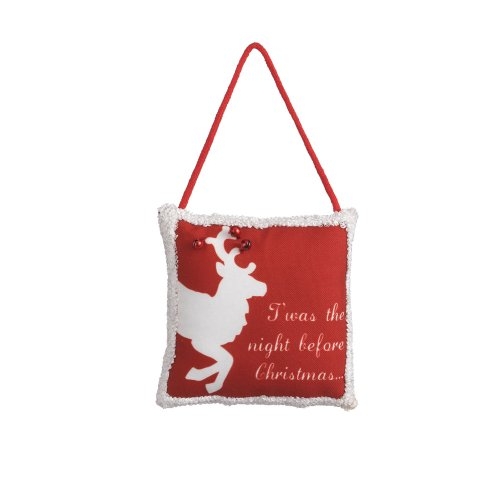 "Midwest CBK ""T'was The Night Before Christmas"" Pillow Door Hanger"