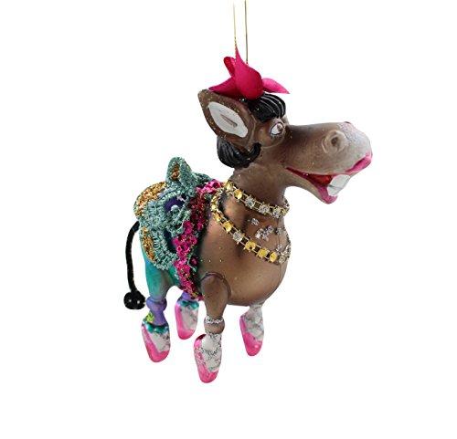 Glass Ms Donkey Ballerina Ornament