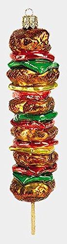 Shish-Kebab Food Polish Mouth Blown Glass Christmas Ornament Decoration