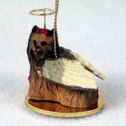 Yorkshire Terrier Tiny One Dog Angel Christmas Ornament