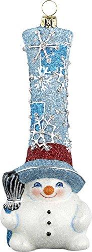 Glitterazzi Snow Gnome Wintery Snowman Ornament by Joy to the World