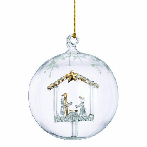 Lenox Nativity Crystal Wonder Ornament