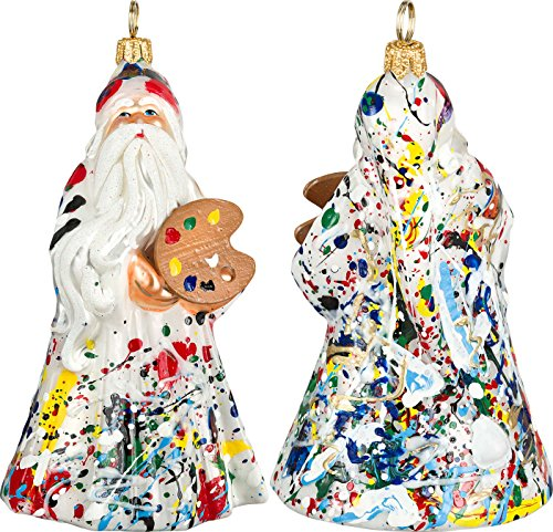 Glitterazzi Artisan Santa Ornament by Joy to the World