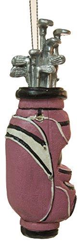 Christmas Decoration Golfer Golf Bag Christmas Tree Ornament (Pink)