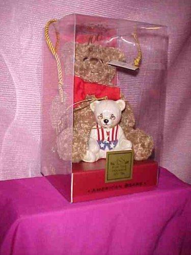 Lenox China 100th Anniversary American Bears Teddy Bear New Plush and Porcelain Ornament by Lenox