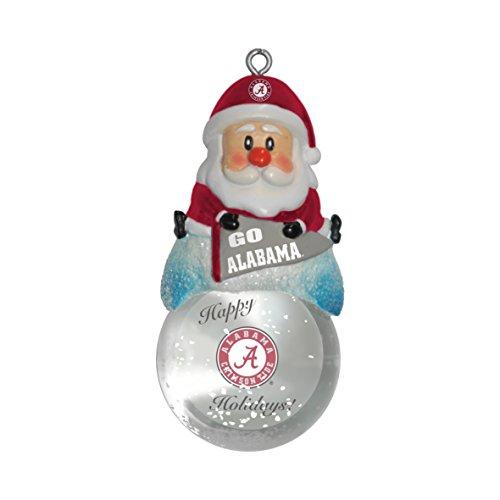 NCAA Alabama Crimson Tide Snow Globe Ornament, Silver, 1.5″