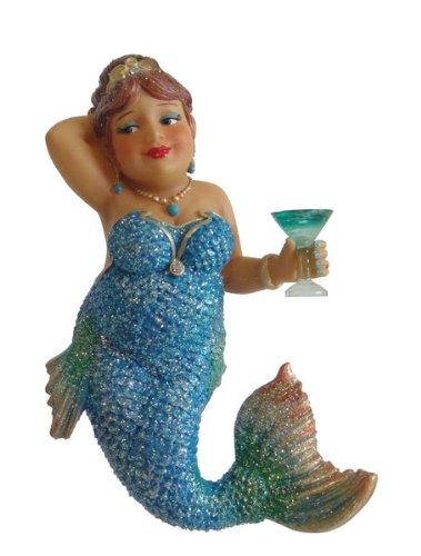 "4.75″ December Diamonds ""Miss Peacock"" Mermaid Diva Christmas Ornament #55-90796"