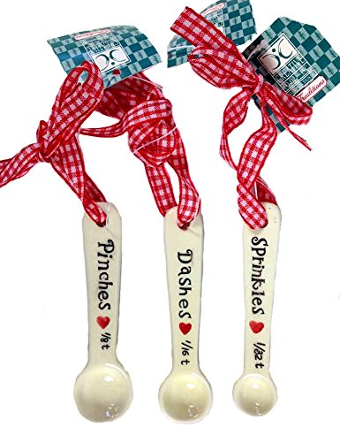 Creative Co-Op Set of 3 Assorted Measuring Spoon Ornaments