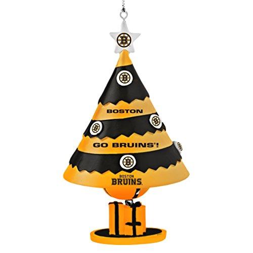 NHL Boston Bruins Tree Bell Ornament, Black, 5″