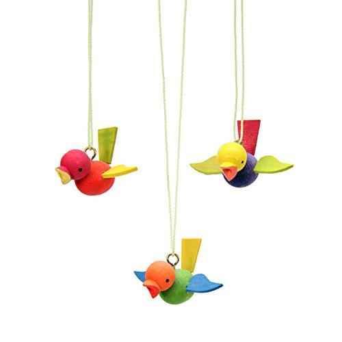 "11-0263 – Christian Ulbricht Ornament – Birds – set of 12 – .75″""H x 1.5″""W x 1.25″""D"