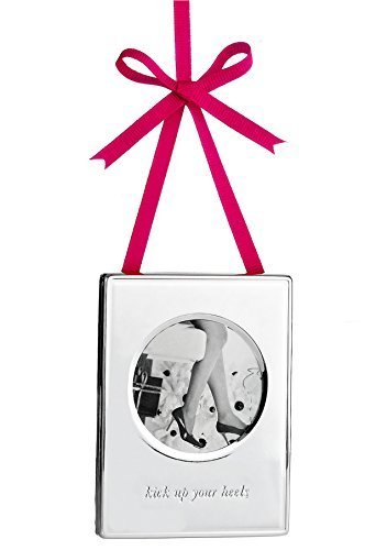 Kate Spade Silver Kick Up Your Heels Ornament Frame 3.75 IN (9,5 CM) by kate spade new york