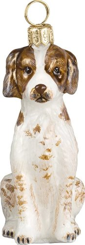The Pet Set Blown Glass European Dog Ornament By Joy to the World Collectibles – Brittany Spaniel