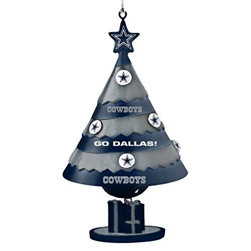 NFL Dallas Cowboys Tree Bell Ornament, Blue, 5″