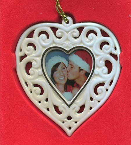 Lenox Porcelain Photo Frame Ornament, Openwork Heart