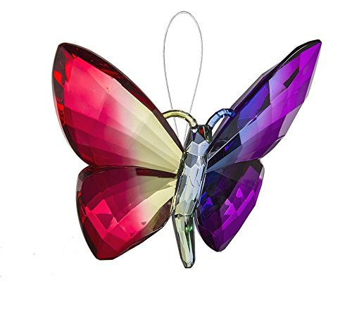 Ganz Crystal Expressions Ornament 5″ – Hanging Rainbow Butterflies (Design 6)