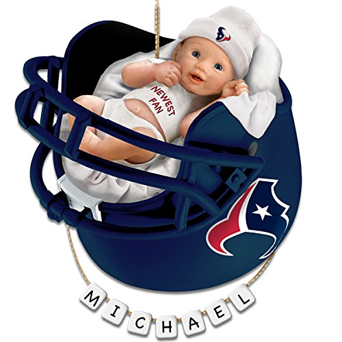 NFL Houston Texans Personalized Baby's First Christmas Ornament by The Bradford Exchange