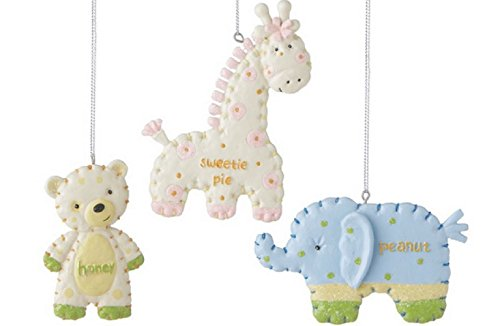 Baby Animals Assorted Ornaments (Set of 3)