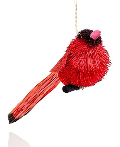 Holiday Lane 7.5″ Buri Cardinal Hanging Ornament Set of 6