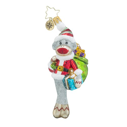 Christopher Radko My Favorite Monkey Little Gem Animals Christmas Ornament