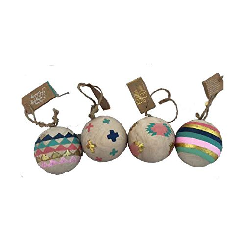 One Hundred 80 Degrees Wooden Western Theme Ornaments (Set/4)