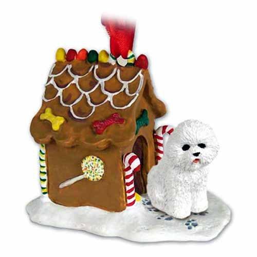 Bichon Frise Gingerbread House Ornament