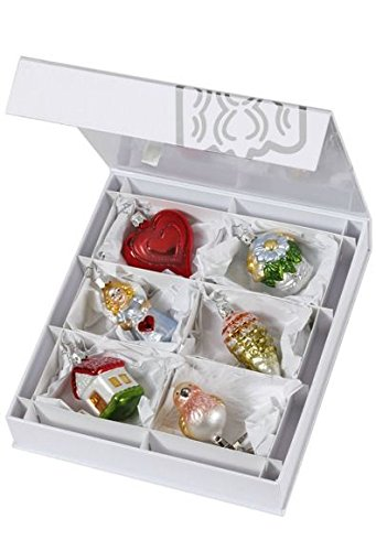 Inge Glas The Bridal Collection Wedding German Glass Ornament Gift Set of 6