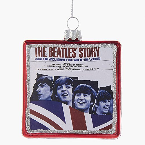 "Kurt Adler 3.25″ ""The Beatles' Story"" Album Glass Ornament"