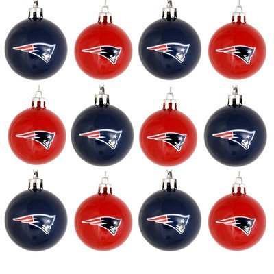 NFL Ball Ornament (Set of 12) NFL Team: New England Patriots