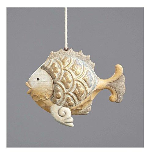 Enesco River's End Jim Shore Christmas Coastal Fish Ornament