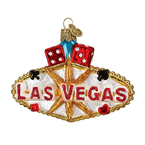 Old World Christmas Las Vegas Sign Glass Blown Ornament