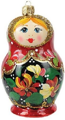 Matryoshka Nesting Doll Polish Glass Christmas Ornament Made Poland Decoration