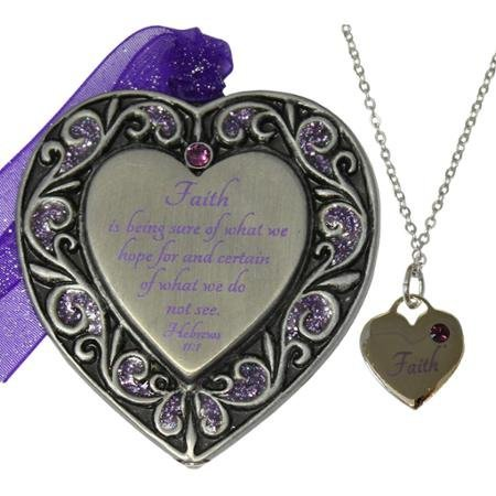 Gloria Duchin Faith Ornament and Necklace Set WLM