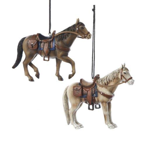 Kurt Adler 4.5″ Resin Western Horse Ornament