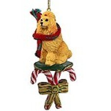 Poodle Apricot Candy Cane Ornament by Conversation Concepts